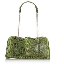 Prada-Prada Multi Python Chain Shoulder Bag-Multiple colors,Green