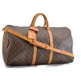Louis Vuitton-Louis Vuitton Keepall Bandouliere 55-Brown
