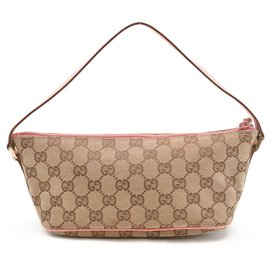 Gucci-Gucci GG Canvas Hand Bag-Beige