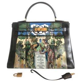 Hermès-Hermes Kelly bag 32 customized-Brown