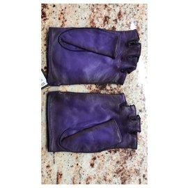 Louis Vuitton-Gants-Violet