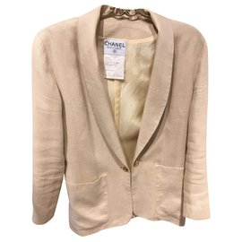 Chanel-Skirt suit-Beige