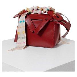 Sophie Hulme-Bolt Leather Bag-Red