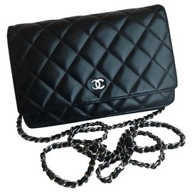 Chanel-WOC Wallet on Chain w/dustbag and box-Black