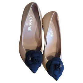 Chanel-Chanel camelia talons chaussures EU37-Rose