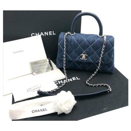 Chanel-Chanel coco handle bag-Blue