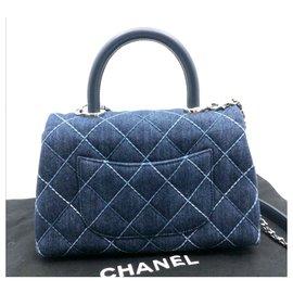 Chanel-Chanel saco de alça de coco-Azul