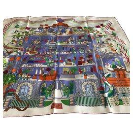 Hermès-la maison des carrés-Multicolore