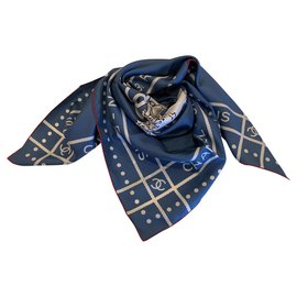 Chanel-Chanel scarf-Blue