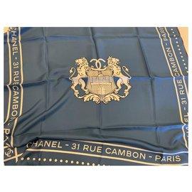 Chanel-Chanel scarf-Blue
