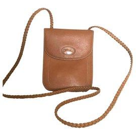 Longchamp-Clutch bags-Cognac