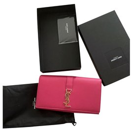 Saint Laurent-Wallets-Pink