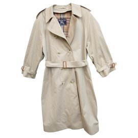 Burberry-womens Burberry vintage t trench coat 44 with removable lining, Perfect condition-Beige