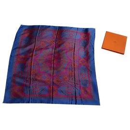 Hermès-Silk scarves-Blue,Purple
