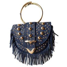 Delphine Delafon-Handbags-Blue,Golden