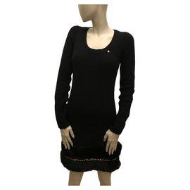 Elisabetta Franchi-Black sweater dress-Black