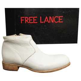 Free Lance-Free Lance + boots 35,5 new condition-Eggshell