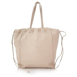 Céline-Celine White Small Coulisse Tote-White