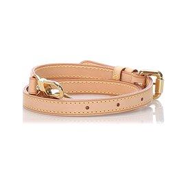 Louis Vuitton-Louis Vuitton Brown Vachetta Adjustable Shoulder Strap-Brown