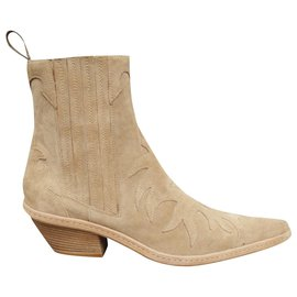 Sartore-boots western Sartore p 37 état neuf-Beige