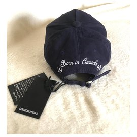 Dsquared2-Hats Beanies-Navy blue