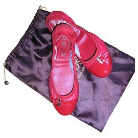 Tod's-Ballerines souples, cuir rouge, EU36.-Rouge