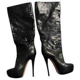 Casadei-boots-Noir
