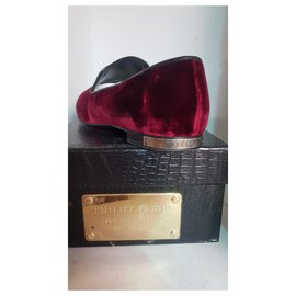 Philipp Plein-loafer tete de Mort strass-Bordeaux