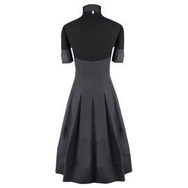 Céline-black structured dress-Black