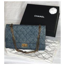 Chanel-Jumbo 2.55 Dbl Flap bag Denim-Blue