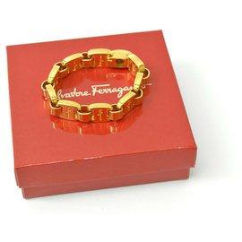 Salvatore Ferragamo-Salvatore Ferragamo Vara Bracelet-Golden