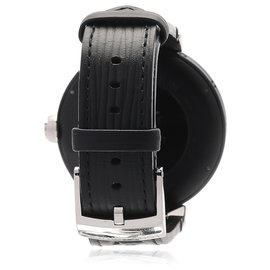 Louis Vuitton-Louis Vuitton Black Tambour Horizon QA051-Black