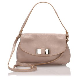 Chloé-Chloe White Leather Lily Shoulder Bag-White,Cream