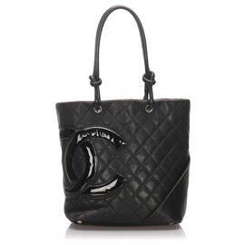 Chanel-Sac à main Chanel Cambon Ligne Noir-Noir