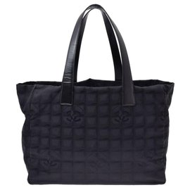Chanel-Sac cabas Chanel Travel line-Noir