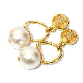 Giorgio Armani-Giorgio Armani Earrings faux pearl-Golden