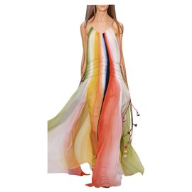 Chloé-Rainbow maxi dress-Multiple colors