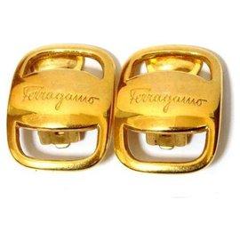 Salvatore Ferragamo-Salvatore Ferragamo Earrings-Golden