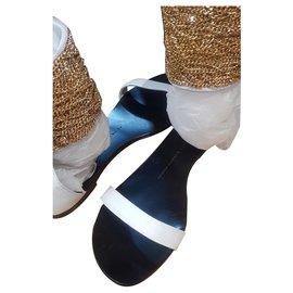 Giuseppe Zanotti-gold sandals-White