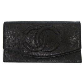 Chanel-Portefeuille long Chanel-Noir