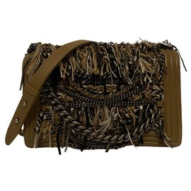 Chanel-Boy Paris Dallas shoulder bag-Light brown