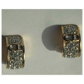 Christian Dior-Adornment Necklace + Pendant + Earrings C.DIOR-Golden