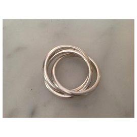 Tiffany & Co-Ring three rings-Silvery