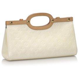 Louis Vuitton-Louis Vuitton White Vernis Roxbury Drive-Brown,White