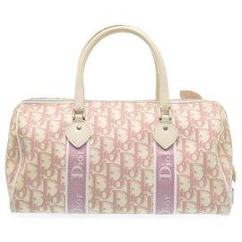 Dior-Sac à main Dior Trotter en toile-Rose