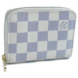 Louis Vuitton-Pièce Louis Vuitton Azur Zippy-Blanc