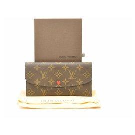 Louis Vuitton-Louis Vuitton Monogram Portefeuille Emilie-Rouge
