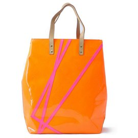 Louis Vuitton-Louis Vuitton Vernis MM Tote Bag-Orange