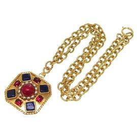 Chanel-Chanel vintage necklace-Golden