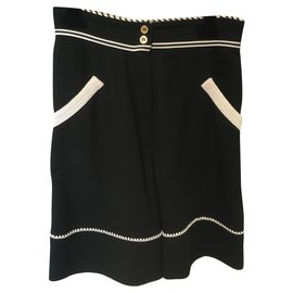 Chanel-Shorts-Black,White